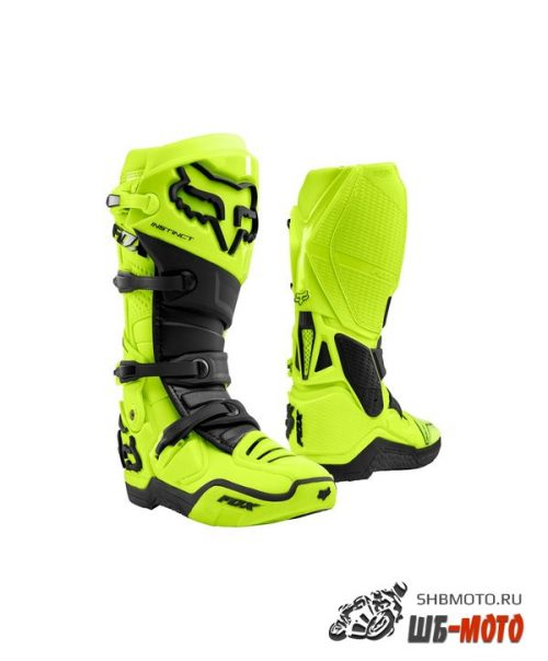 Мотоботы Fox Instinct Boot Flow Yellow 2021