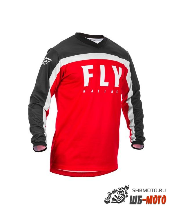 Футболка для мотокросса FLY RACING F-16 красная/чёрная/белая (2020)