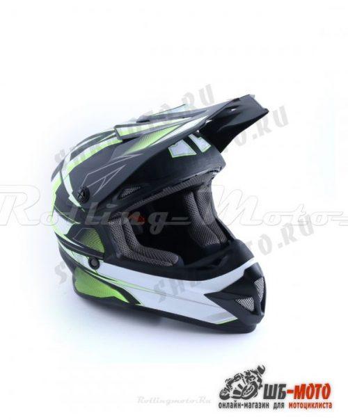 Шлем детский (кроссовый) ATAKI SC-15 Rift Hi-Vis желтый/черный матовый