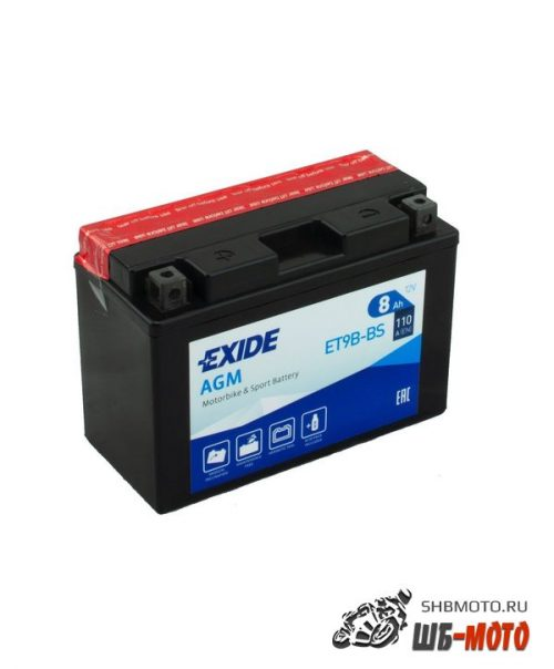 Аккумулятор EXIDE AGM YT9B-BS