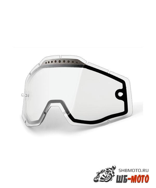 Линза 100% Racecraft/Accuri/Strata Vented Dual Pane Lens Anti-Fog Clear