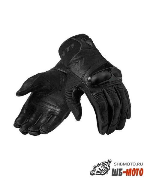 Revit Hyperion мотоперчатки кожаные (ц. черный)
