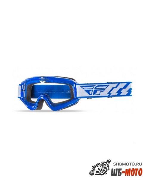 Очки для мотокросса FLY RACING FOCUS детские синие, прозрачные