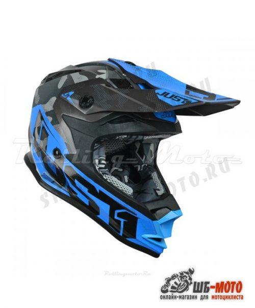 Шлем детский (кроссовый) JUST1 J32 YOUTH SWAT синий/черный
