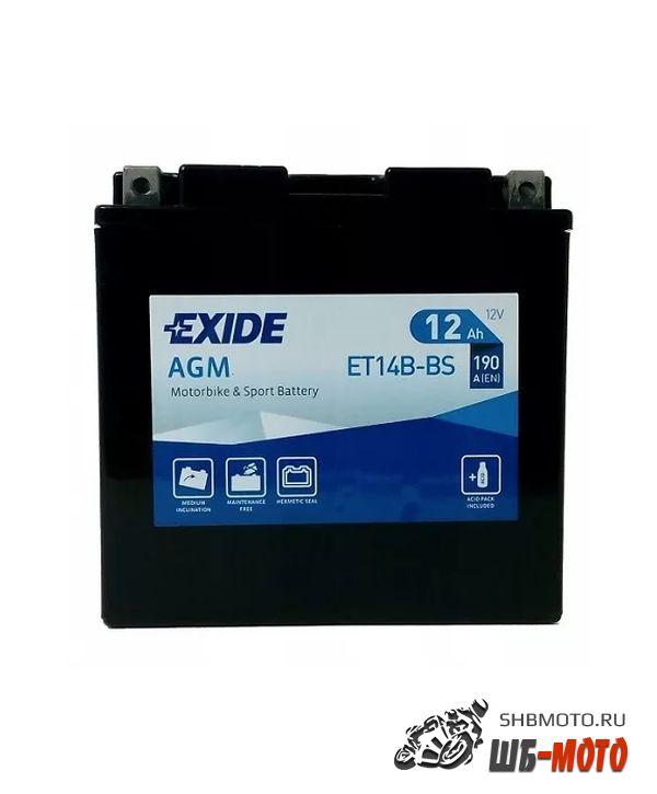 Аккумулятор EXIDE AGM YT14B-BS, YT14BS