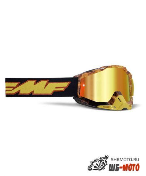Маска кросс FMF - 100% Powerbomb Spark с зеркальной красной линзой