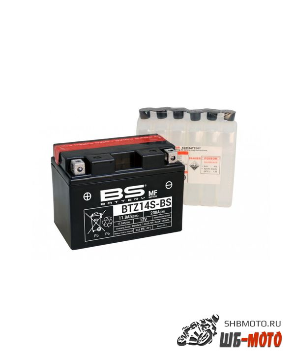 Аккумулятор BS-Battery BTZ14S/YTZ14s