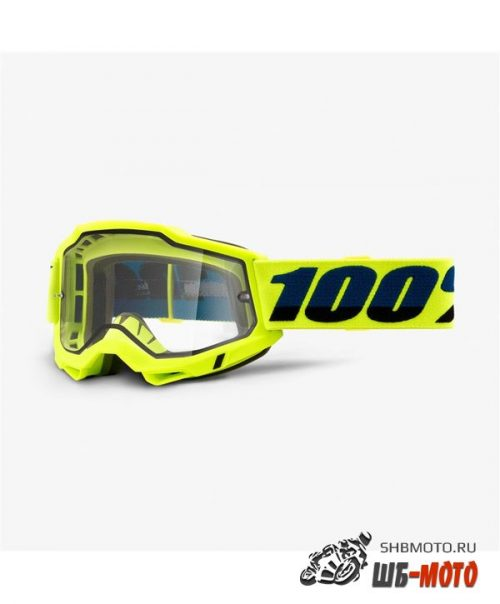 Очки 100% Accuri 2 Enduro Goggle Fluo Yellow / Clear Dual Lens