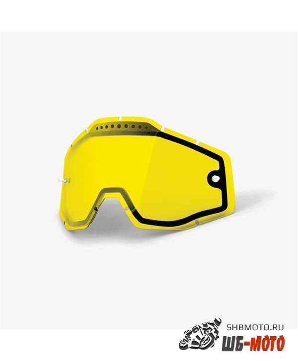 Линза 100% RC2/AC2/ST2 Replacement Lens Vented Dual Pane Yellow