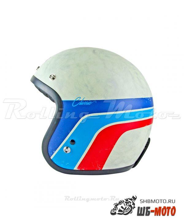 ORIGINE Шлем Primo Classic белый/синий/красный матовый