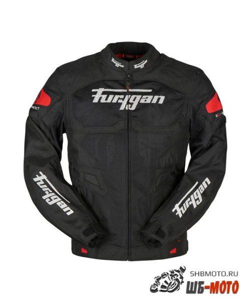 FURYGAN Мотокуртка ATOM VENTED текстиль, цвет Черный/Красный