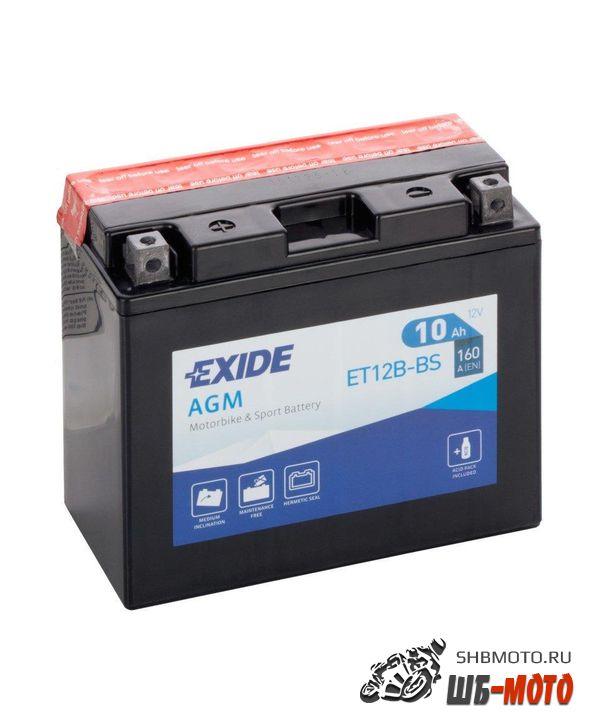 Аккумуляторная батарея EXIDE AGM [12V 10Ah 160A B0] YT12B-BS