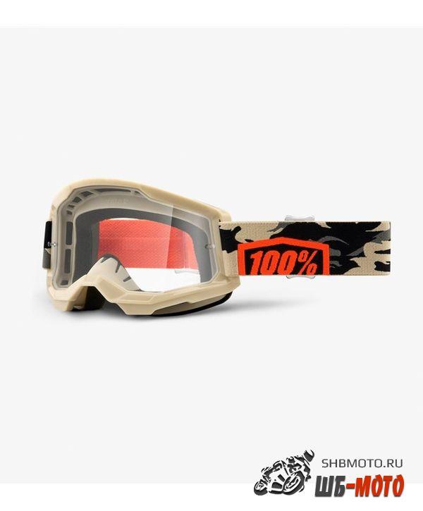 Очки 100% Strata 2 Goggle Kombat / Clear Lens