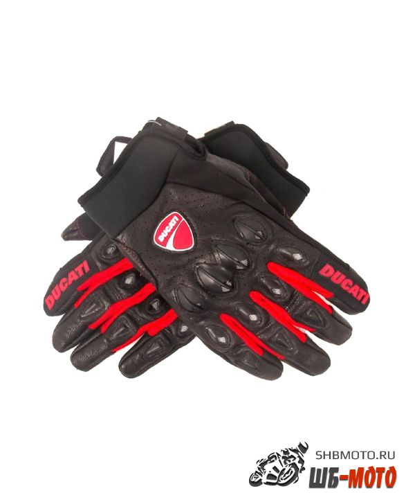 FIVE Stunt мотоперчатки кожаные (ц. черный, Ducati)