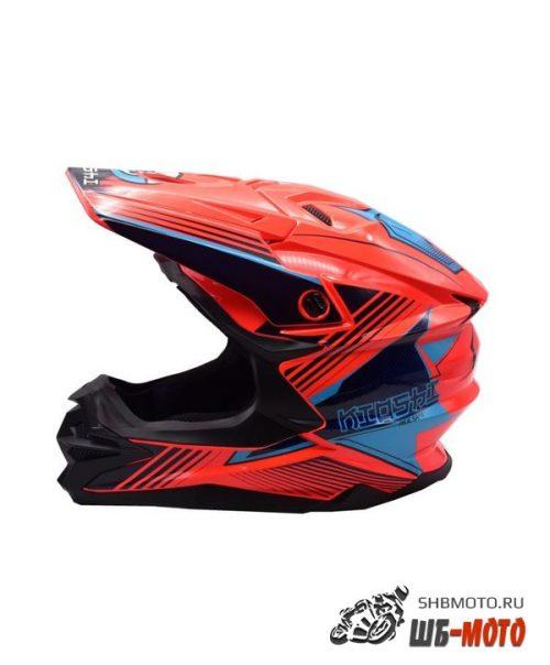 Шлем KIOSHI Holeshot 801 кроссовый Оранжевый/синий
