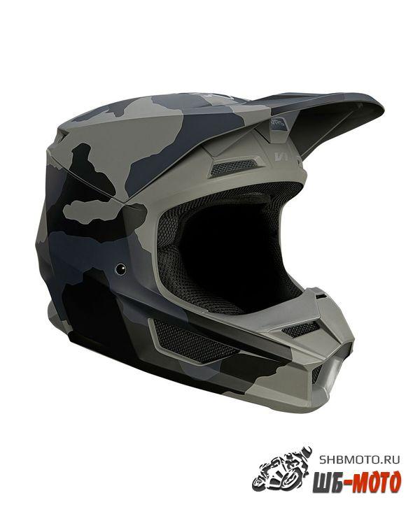 Мотошлем Fox V1 Trev Helmet Black Camo, 2021
