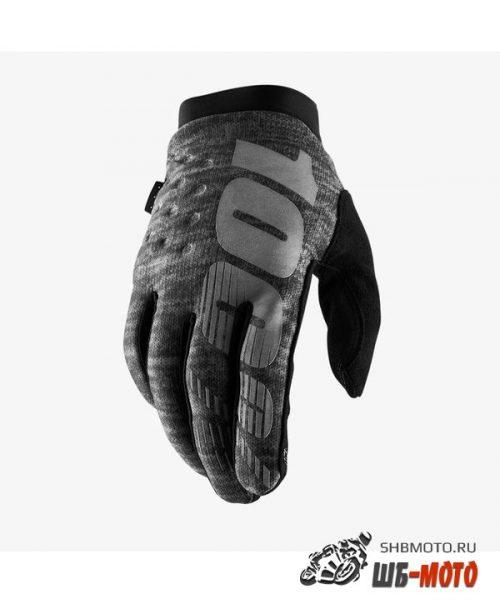 Мотоперчатки 100% Brisker Black/Grey