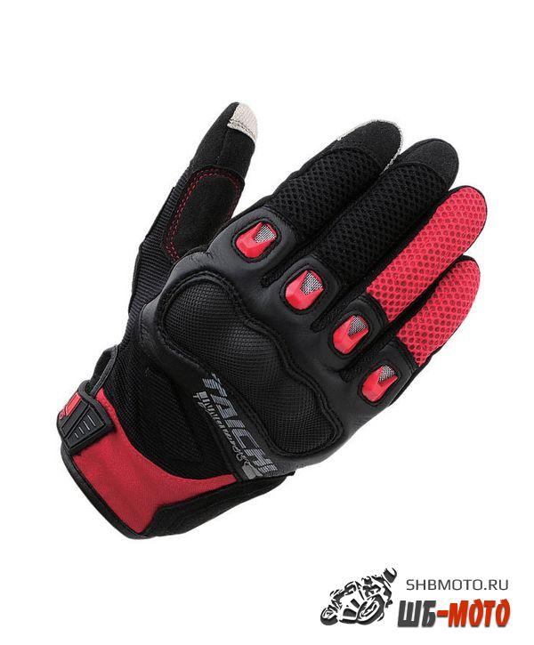 RS Taichi RST-412 Gloves комбинированные мотоперчатки (ц. черный/красный)