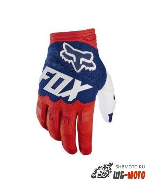 Fox Dirtpaw Race текстильные мотоперчатки (ц. красн/син)