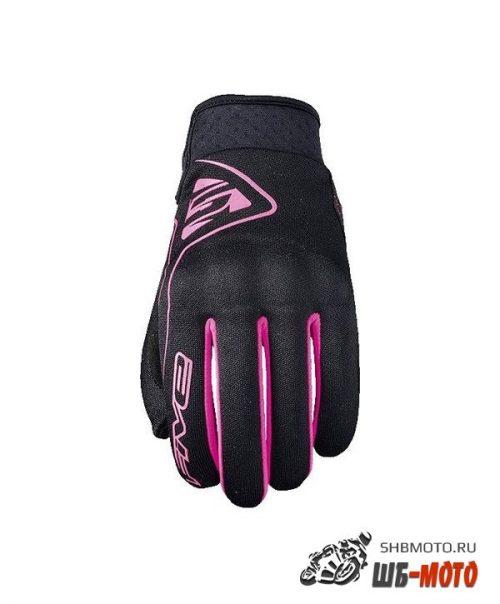 FIVE Перчатки GLOBE женск. black/fluo pink