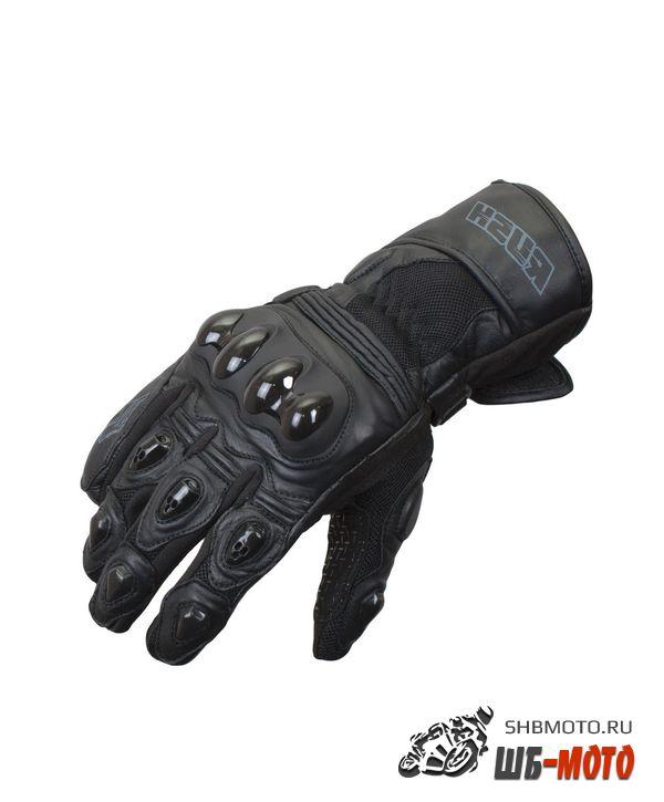 RUSH Перчатки WIND кожа, цвет Черный