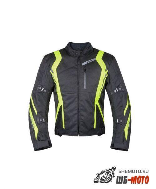 RUSH Мотокуртка STANCE текстиль, цвет Черный/Желтый