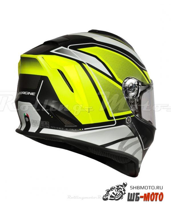 Шлем ORIGINE Dinamo Galaxi Hi-Vis желтый/черный матовый