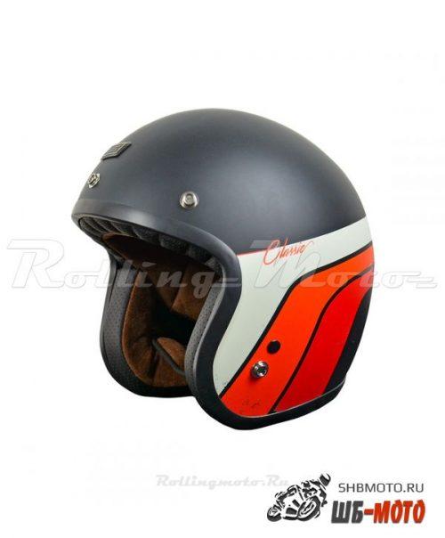 ORIGINE Шлем Primo Classic черный/белый/красный матовый
