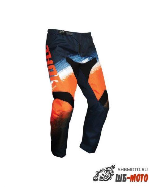 Штаны для мотокросса Thor Sector Vapor сине-оранжевые