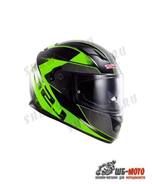 LS2 Шлем FF320 Stream Stinger Black Flou Green