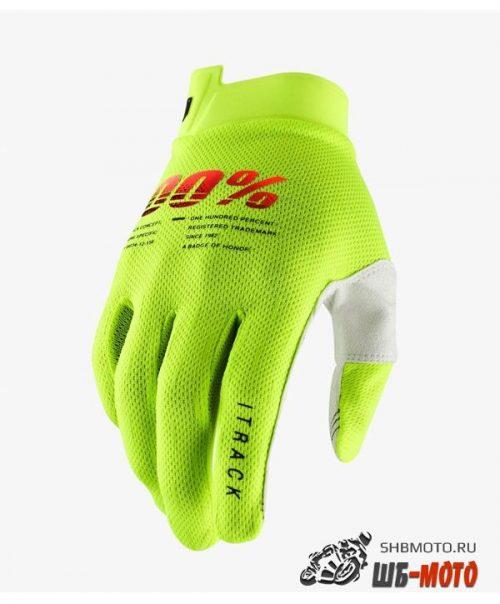 Мотоперчатки 100% ITrack Glove Fluo Yellow